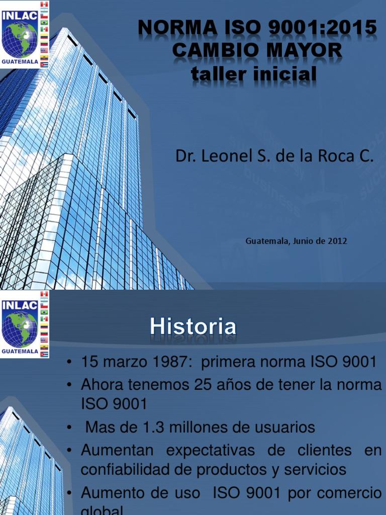 borrador iso 9001 version 2015 pdf español