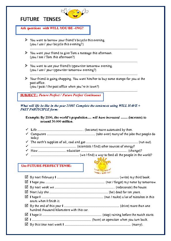 cambridge future going to vs will pdf