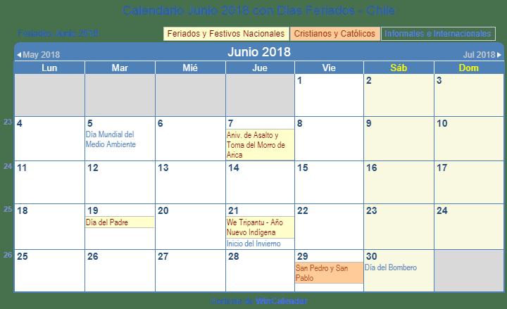 calendario 2018 chile pdf para imprimir septiembre 2018