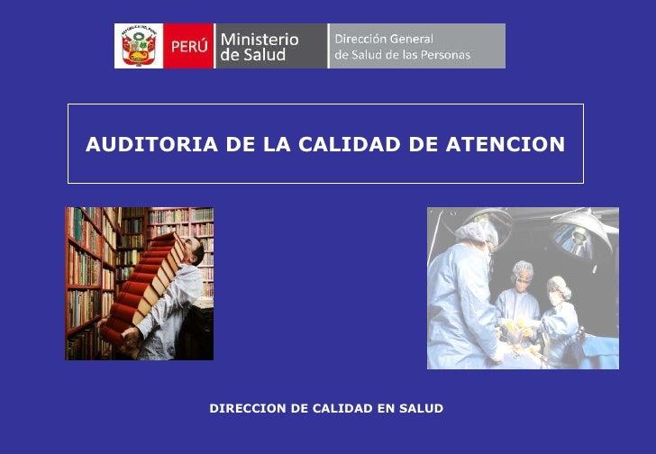 calidad de atencion en salud salud pdf