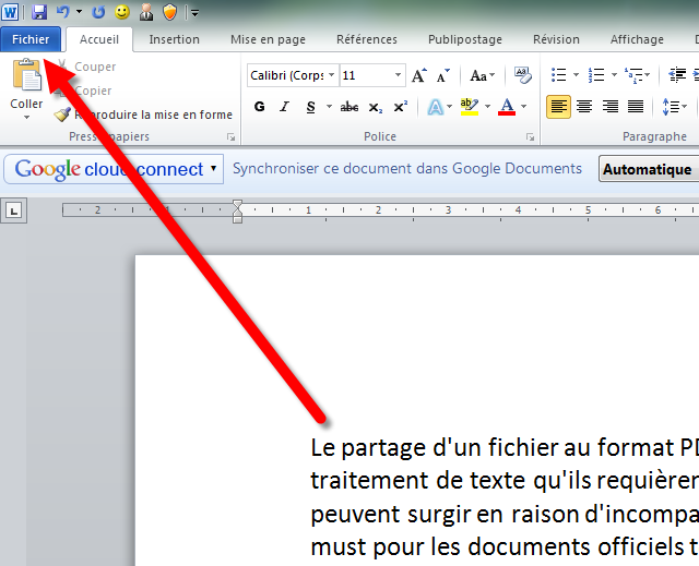 cambiar un word en pdf