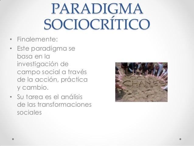 caracteristicas del paradigma sociocritico pdf
