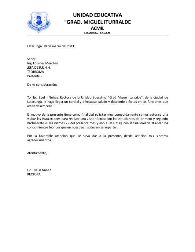carta de solicitud de visita a carabineros