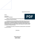 carta tipo de solicitud de auspicio