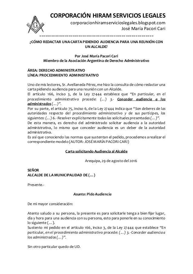 carta tipo solicitud de publicacion