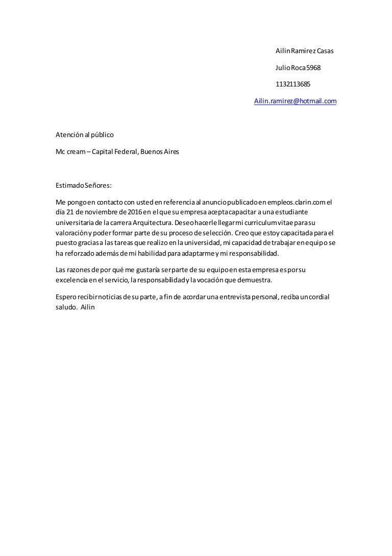 cartas de presentacion solicitud empleo
