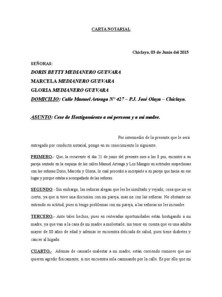 cese de convivencia notarial pdf