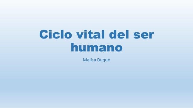 ciclo vital del ser humano pdf