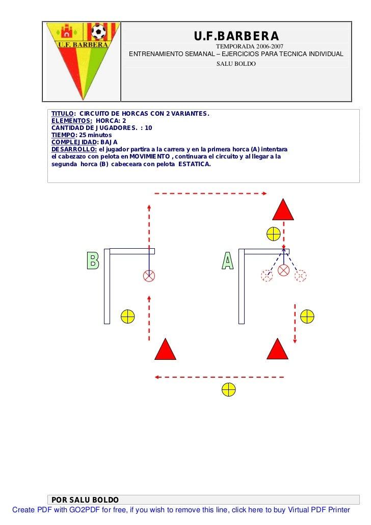 circuitos de entrenamiento con conos pdf