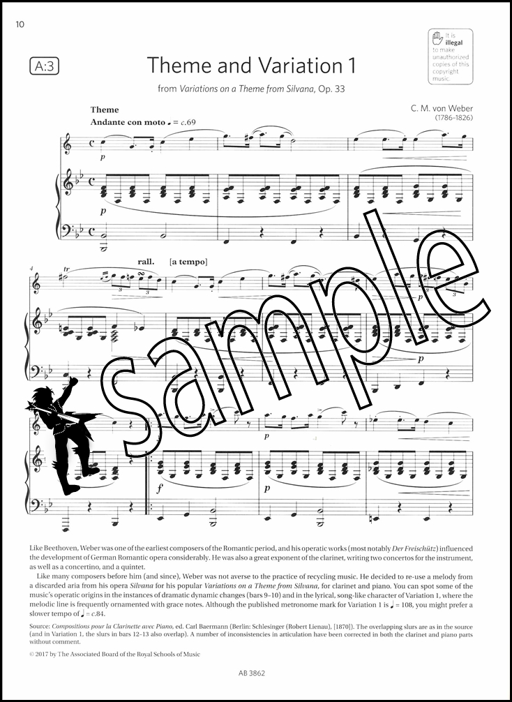 clarinet exam pieces syllabus pdf