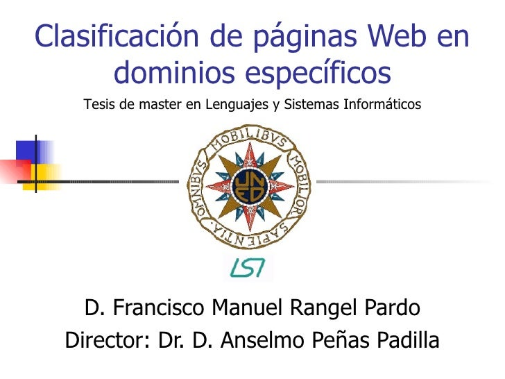 clasificacion de sitios web pdf