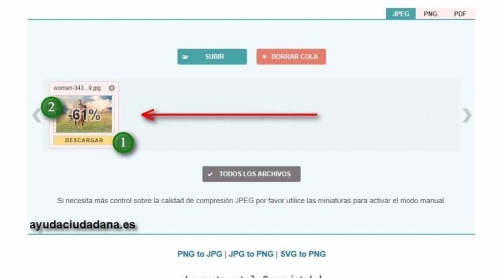 como comprimir un fichero pdf