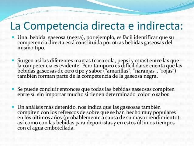 competencia directa e indirecta pdf