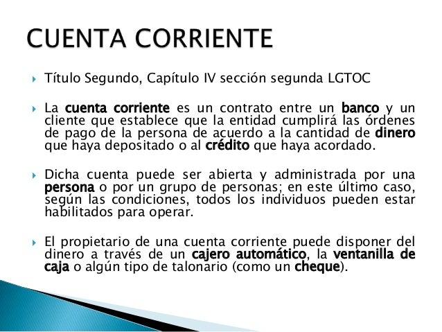 condiciones de una cuenta corriente