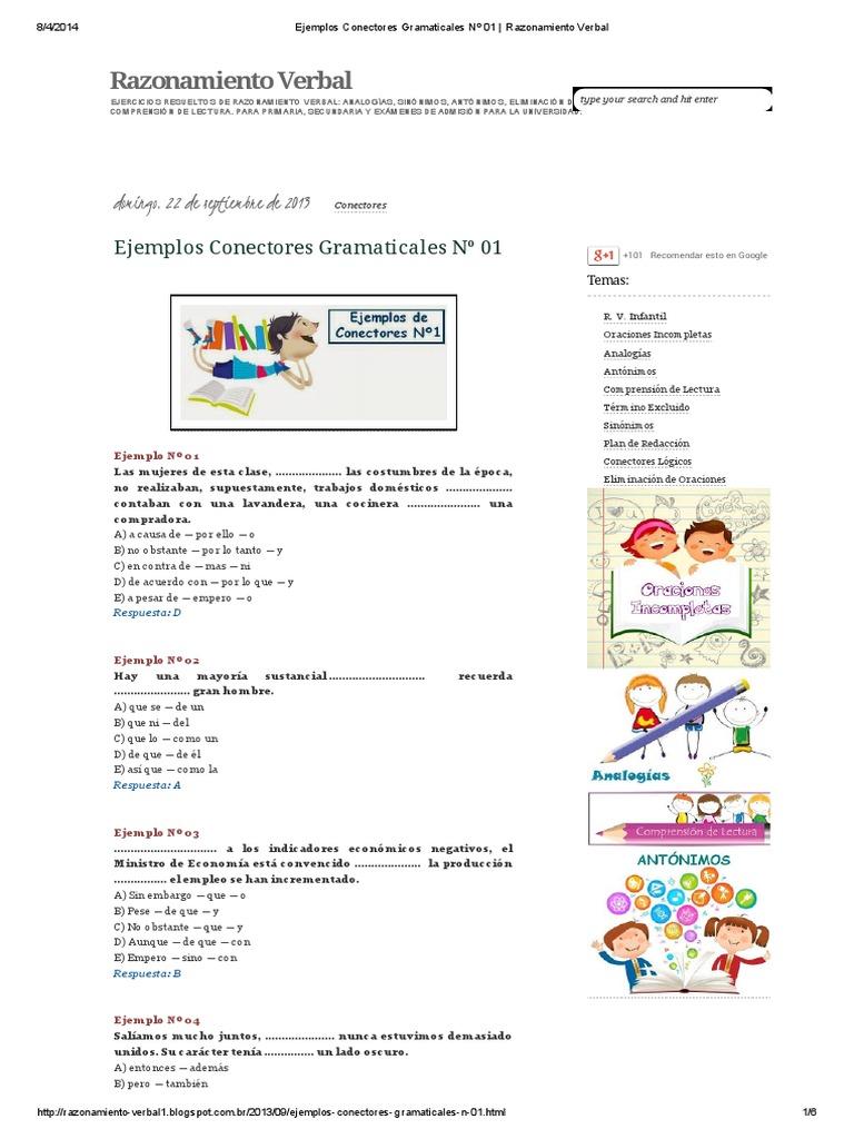 conectores en ingles ejercicios pdf resueltos