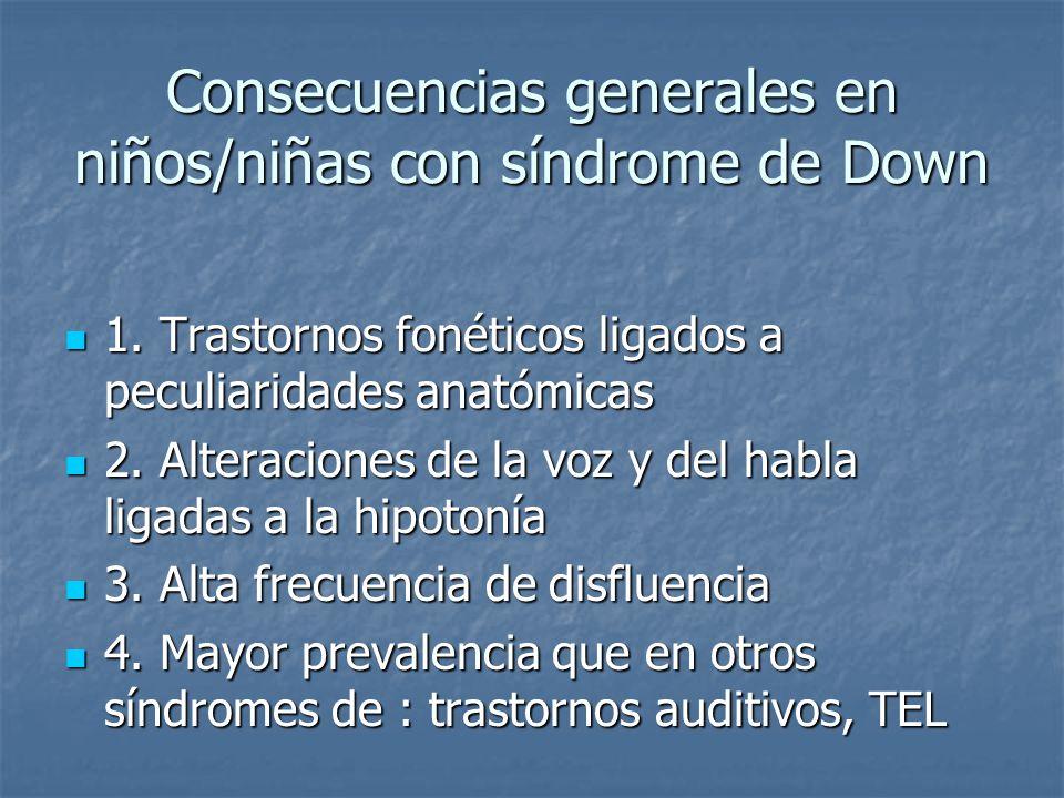 consecuencias del sindrome de down pdf