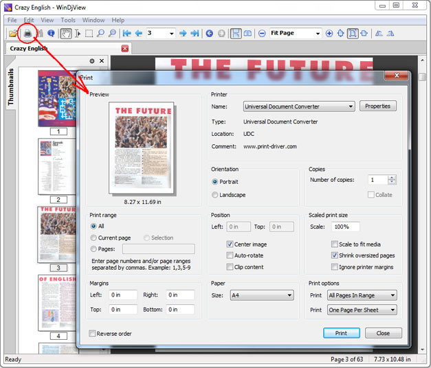 convert djvu to pdf online free