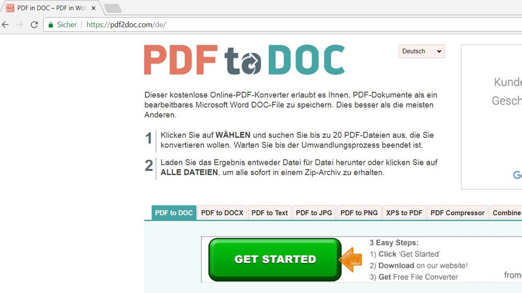 convetir de pdf a word online
