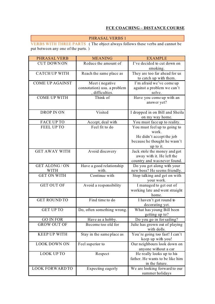 cpe phrasal verbs lista pdf