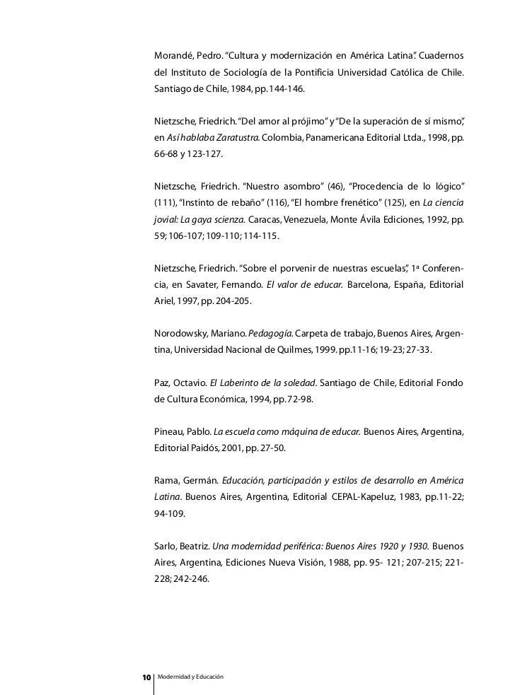 cultura y modernizacion en america latina pedro morande pdf