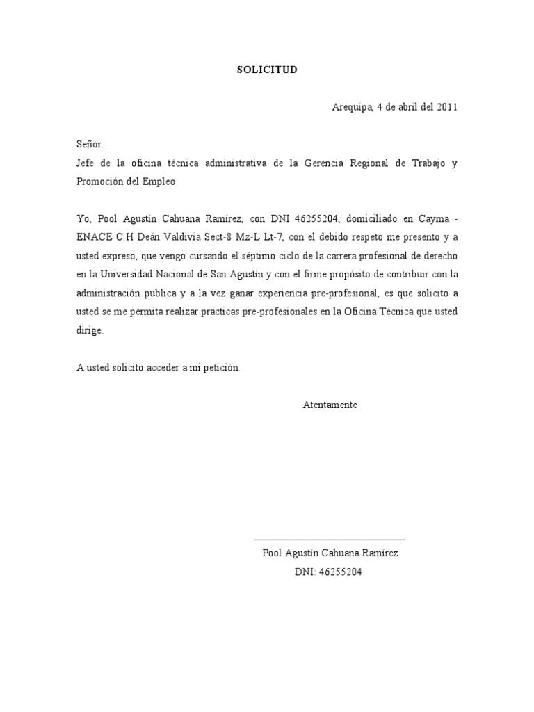 carta tipo de solicitud de permiso en colegio