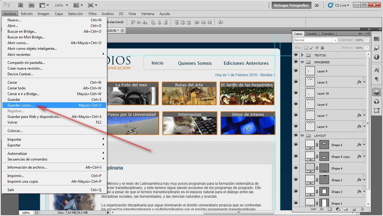 como guardar jpg en pdf photoshop