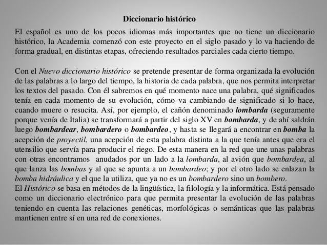 definicion proyecto diccionario real academia