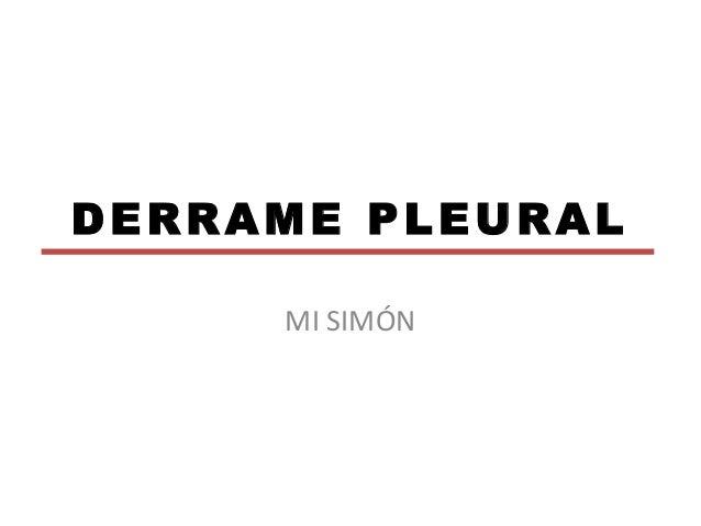 derrame pleural medicina interna pdf